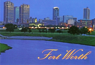 11x POSTCARD FORT WORTH TEXAS