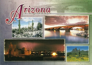 15X POSTCARD OF ARIZONA