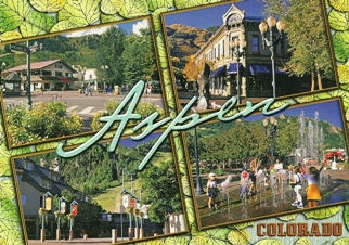 POSTCARD OF ASPEN COLORADO