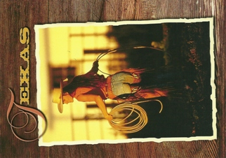 Postcard of Texas cowgirl