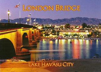 POSTCARD LONDON BRIDGE Lake Havasu City