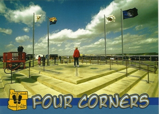 POSTCARD OF FOUR CORNERS MONUMENT