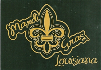 "10x POSTCARD Fleur-de-lis or ""lily flower\""NEW ORLEANS LOUISIANA"