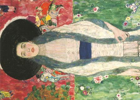Postcard Gustav Klimt (1862 - 1918) Portrait of Adele Bloch - Ba