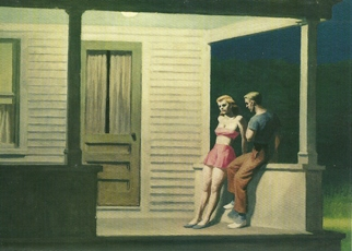 Postcard Edward Hopper (1882-1967) Summer Evening,, 1947
