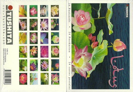 A Book of 24 Postcards Of Lotus and Nympheas