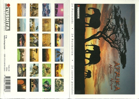 A Book of 24 Postcards Of AFRICA