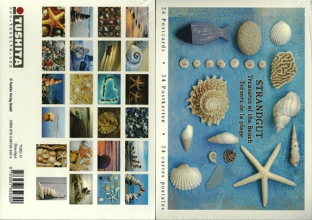 A Book of 24 Postcards Of Treasures of the Beach