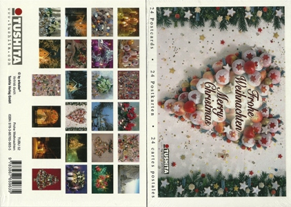 A Book of 24 Postcards Merry Christmas, Frohe Weihnachten