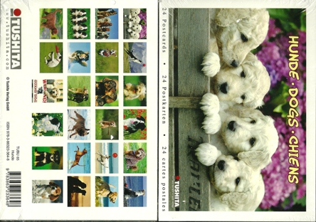 A Book of 24 Postcards Of Dogs