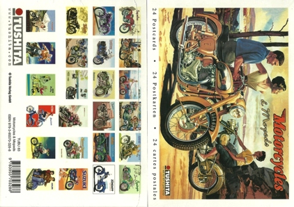 A Book of 24 Postcards MOTORCYCLES AND MOPEDS