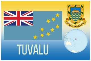 12 (1 Dozen OF The Same Design) Postcard of TUVALU
