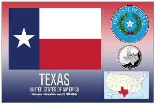 12 (1 Dozen OF The Same Design) Postcard of TEXAS- United States