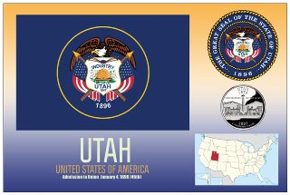 12 (1 Dozen OF The Same Design) Postcard of UTAH- United States