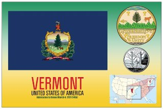12 (1 Dozen OF The Same Design) Postcard of VERMONT- United Stat
