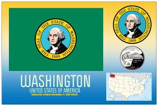 12 (1 Dozen OF The Same Design) Postcard of WASHINGTON- United S