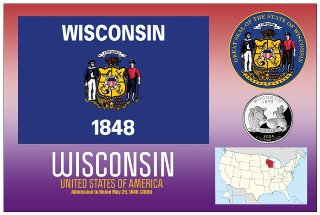 12 (1 Dozen OF The Same Design) Postcard of WISCONSIN - United S