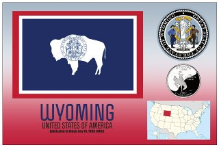 12 (1 Dozen OF The Same Design) Postcard of WYOMING - United Sta