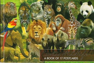 2xBook of 17 Postcards of Exotic Wildlife ( Animals )