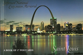 A Book of 17 Postcards The Jefferson National Expansion Memorial