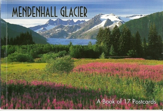 A Book of 17 Postcards Mendenhall Glacier