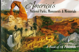 A Book of 33 Postcards America\'s National Parks, Monuments & Mem