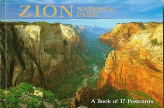 A Book of 17 Postcards Zion National Park