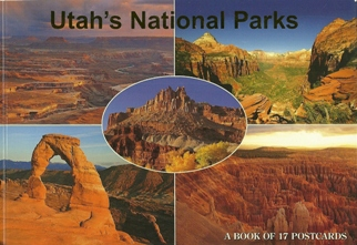 A Book of 17 Postcards Utah's National  Parks